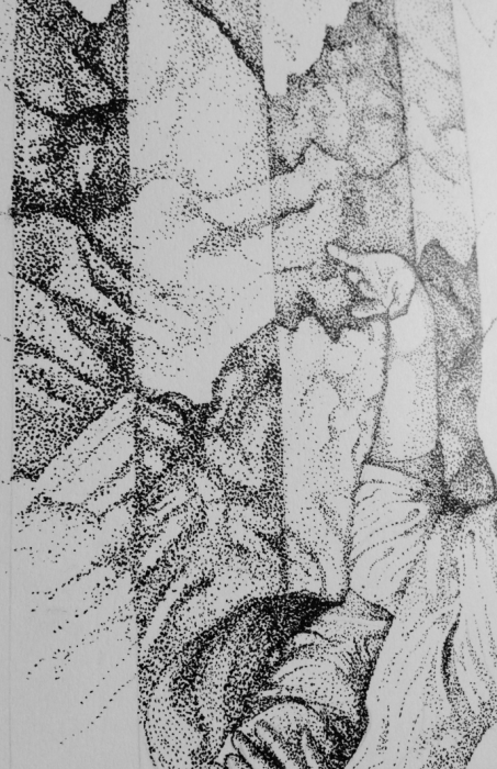 14 hours drawing - Falling Through Noise - James Hayes